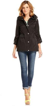 Jessica Simpson Jacket, Funnel-Collar Tiered Anorak