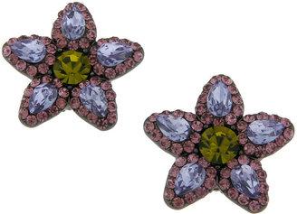 Erickson Beamon ROCKS Gemstone Flower Stud Earrings