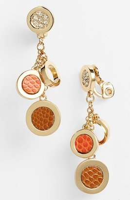 Anne Klein Clip Drop Earrings