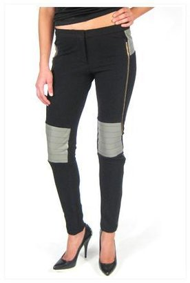 Gabriel Conroy Lamb Skin Legging in Black and Slate Grey