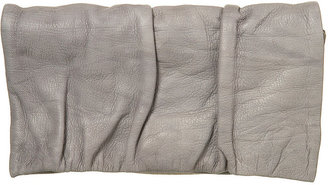 Topshop Leather Ruched Flap Purse