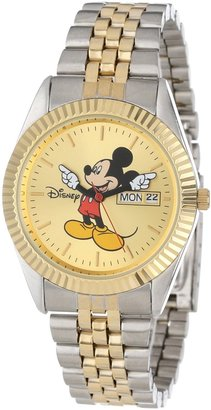 EWatchFactory Disney Men's MM0060 Two-Tone Mickey Mouse Watch with Day and Date Movement