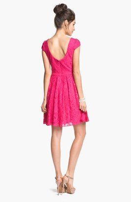 Adrianna Papell Lace Fit & Flare Dress (Online Only)