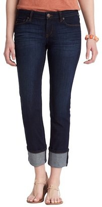 LOFT Modern Straight Cuffed Cropped Jeans in Crisp Blue Wash