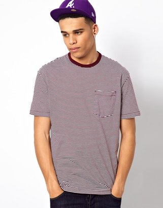 Addict T-Shirt Academy Stripe Pocket