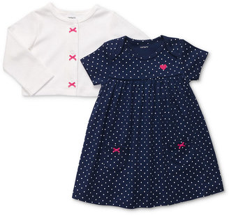 Carter's Baby Girls' 2-Piece Polka-Dot Dress & Cardigan Set