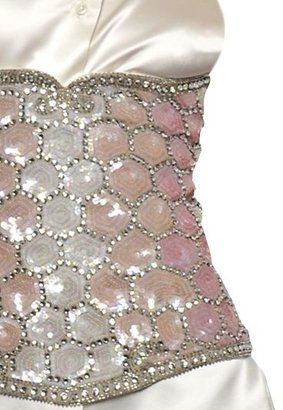 Maison Martin Margiela Sequin Embroidered Bustier Top