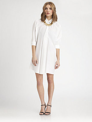 Josie Natori Cotton/Silk Shirtdress