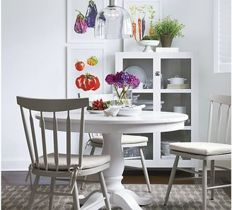 """Crate & Barrel Avalon 45"""" White Extension Dining Table"""