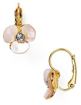 Kate Spade Disco Pansy Leverback Earrings