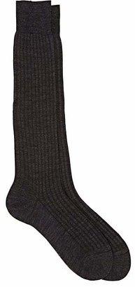 Barneys New York Men's Rib-Knit Over-The-Calf Socks $32 thestylecure.com