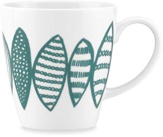 Dansk Lotta Petal 16-Ounce Mug in Teal