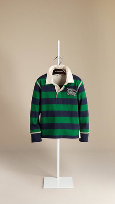 Burberry Rugby Stripe Cotton Polo Shirt