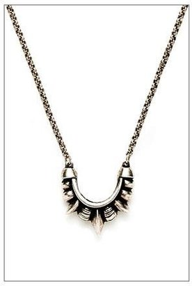 Pamela Love Mini Tribal Spike Necklace in Antique SIlver