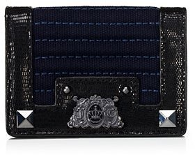 Juicy Couture Embellished Canvas Card Case