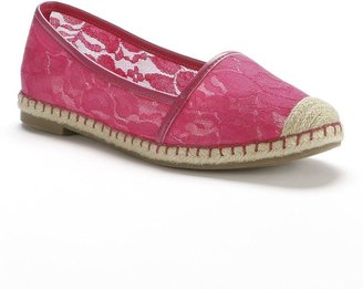 JLO by Jennifer Lopez lace espadrille flats - women