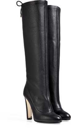 Vionnet Leather Tall Boots in Black
