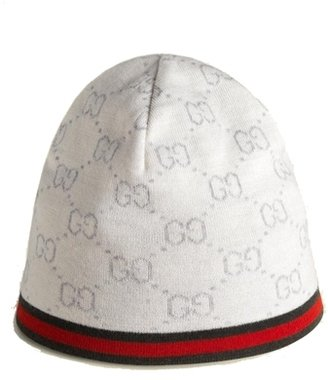 Gucci GG Pattern Knit Baby Hat