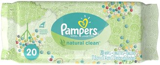 Pampers Natural Clean Baby Wipes Travel Pack - 20ct
