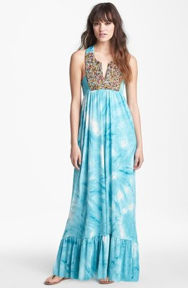 T-Bags Tbags Los Angeles Embellished Print Maxi Dress