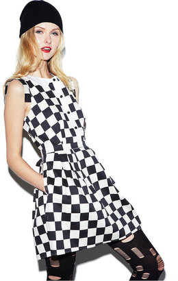 Made Fashion Week for Impulse Dress, Sleeveless Check-Print A-Line