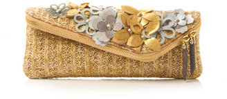 Henri Bendel Suped Up Floral Debutante Asymmetric Clutch
