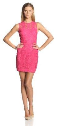 Cynthia Steffe CeCe by Women's Hayden Deco-Lace Sleeveless Sheath Dress