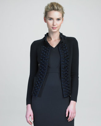 Armani Collezioni Textured-Panel Jacket