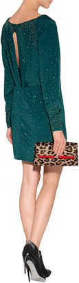 Diane von Furstenberg Leather/Haircalf 440 Envelope Clutch in Leopard