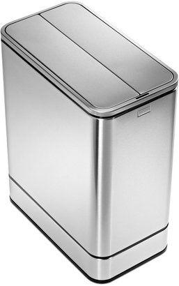Simplehuman Brushed Stainless Steel 48 Liter Fingerprint Proof Butterfly Sensor Trash Can