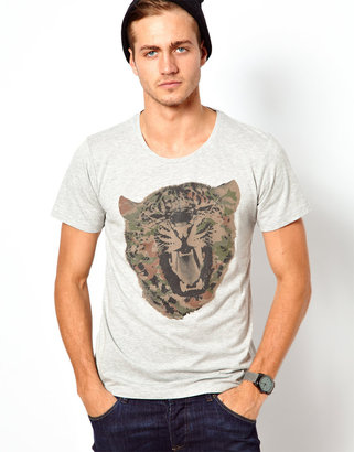 Solid T-Shirt with Print