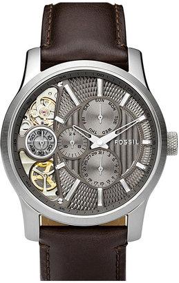 Fossil 'Twist' Leather Strap Watch