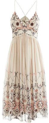 Vanessa Bruno Printed silk strappy dress