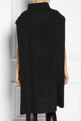The Row Bharati bouclé cashmere and silk-blend poncho