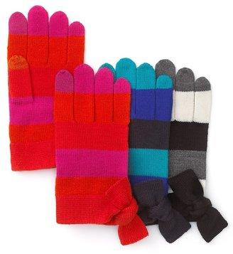 Kate Spade Stripe Bow Tech Gloves