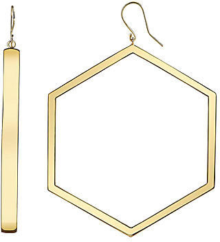 JCPenney FINE JEWELRY DOWNTOWN BY LANA Gold-Tone Open Hexagon Earrings