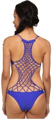 Mikoh Swimwear Xavier Crochet Back One-Piece