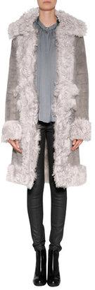 Vanessa Bruno Shearling Coat in Ostrich