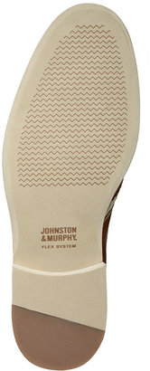 Johnston & Murphy Ellington Leather and Linen Wing-Tip Shoes