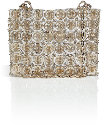 Paco Rabanne Pyramid Bag in Transparent/Golden Metal