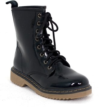 Frankie Patent Lace Up Boot
