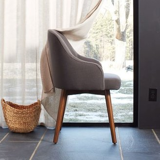 west elm Saddle Dining Chair - Iron