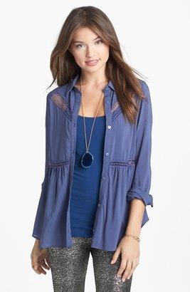 Lush Lace Trim Shirt (Juniors)