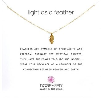 Dogeared Light As a Feather Reminder (Gold) Necklace