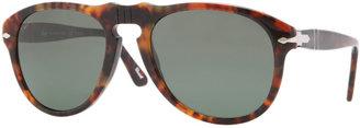Persol Retro Keyhole Round Sunglasses, Caffe