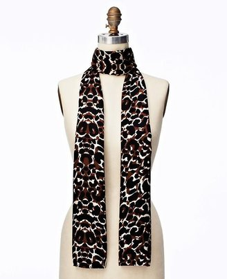 Ann Taylor Leopard Print Silk Scarf