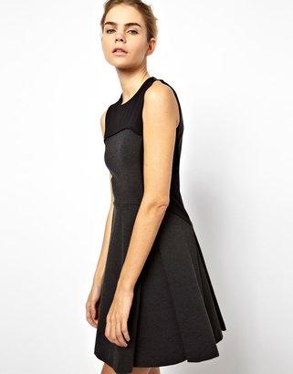 Chalayan Grey Line Gray Line Flare Graphic Dress - Grey