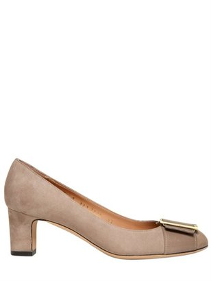 Salvatore Ferragamo 55mm Thais Suede Pumps