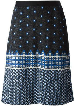 LANVIN Pre-Owned Jacquard Knitted Skirt
