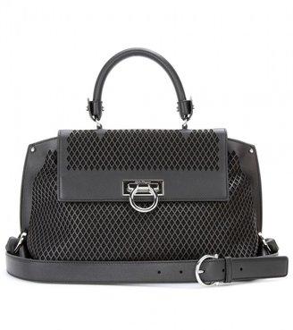 Salvatore Ferragamo Sofia perforated leather shoulder bag